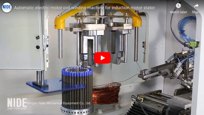 automatic electric motor stator coil winding machine video