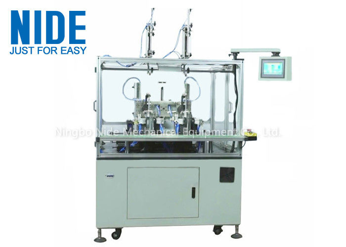 Two Working Stations Needle Winding Machine For Bldc Stator Coil Winder