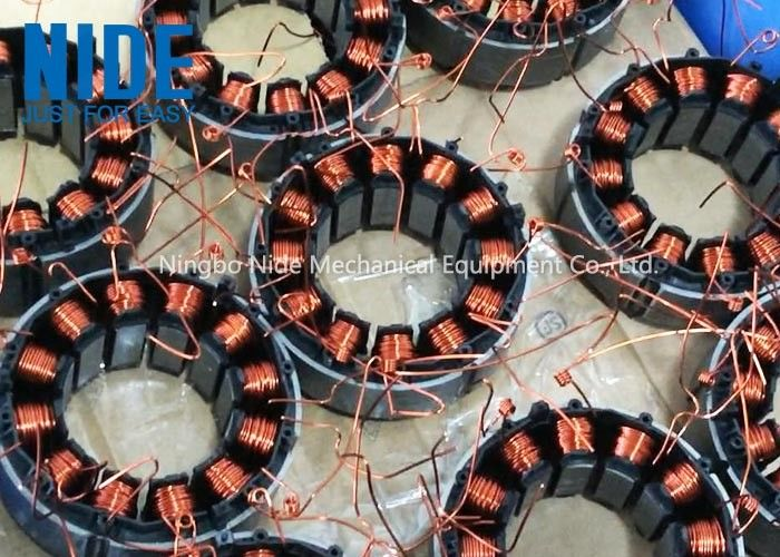 Automatic 2 Stations Electric Motor Winding Equipment For Multi Pole BLDC Motor Stator