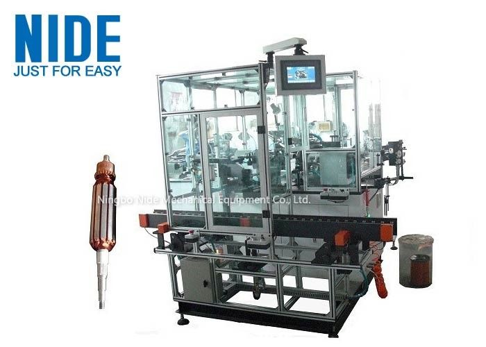 Double Flyer Rotor Windier Armature Coil Winding Machine For Hook Type Commutator