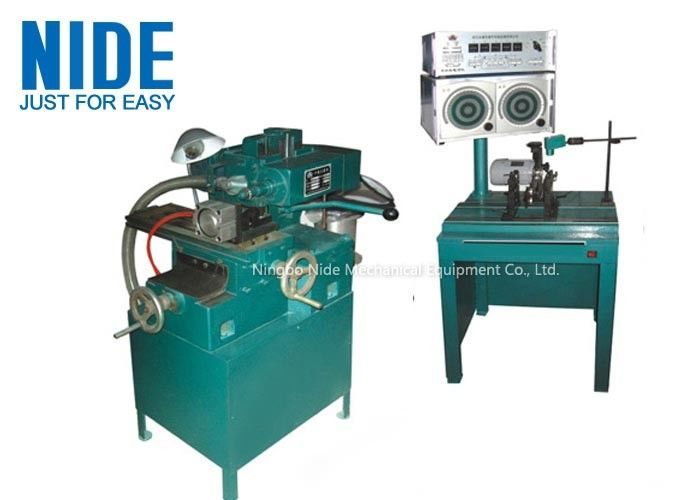 Semi Automation Armature Motor Rotor Balancing Machine / Balancer Machine and weight removing machine